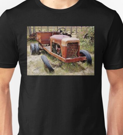 Old Farm Vehicle with Tire Off Unisex T-Shirt
