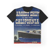 Vintage poster - California Graphic T-Shirt