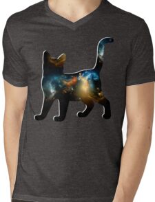 CELESTIAL CAT 2 Mens V-Neck T-Shirt