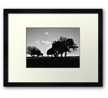 Highdown Silhouette Framed Print