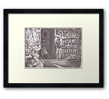 Typical corner shop!!  in my world  Framed Print