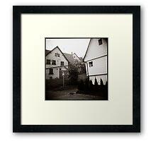 { foggy morning } Framed Print