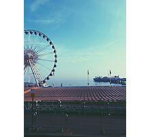 Misty Brighton Wheel and Pier Photographic Print