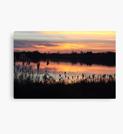 Sunset on Struble Lake Canvas Print