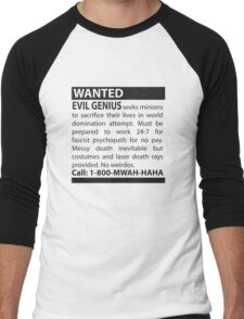 Minions Wanted Men's Baseball ¾ T-Shirt