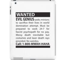 Minions Wanted iPad Case/Skin