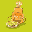 A very Hungry Birthday cake by jazzydevil