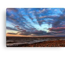 A Very Cool Sunset Canvas Print