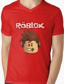 Roblox Character Head Mens V-Neck T-Shirt