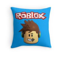 Roblox Character Head Throw Pillow
