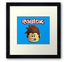 Roblox Character Head Framed Print