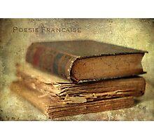 Poésie Française Photographic Print