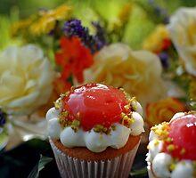 Cupcake fleurs de jardin by parismidori