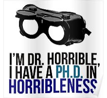 PH D in Horribleness A Poster