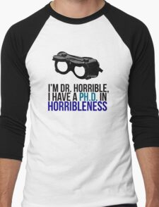 PH D in Horribleness A Men's Baseball ¾ T-Shirt