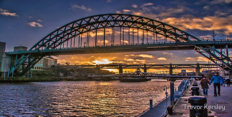 Newcastle Sunset by Trevor Kersley