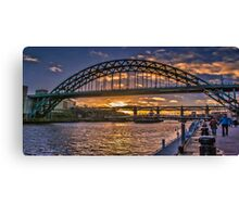Newcastle Sunset Canvas Print