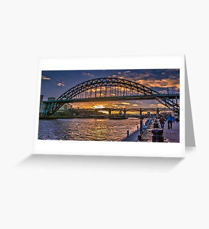 Newcastle Sunset Greeting Card