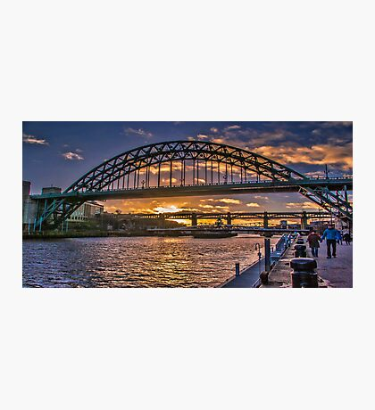 Newcastle Sunset Photographic Print