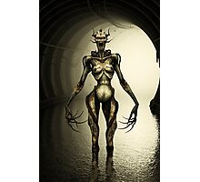 Alien Cyborg Photographic Print