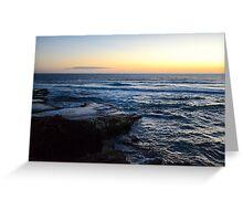 An Upset Sunset Greeting Card