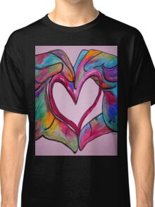 Universal Sign for Love - You Hold my Heart in Your Hand Classic T-Shirt