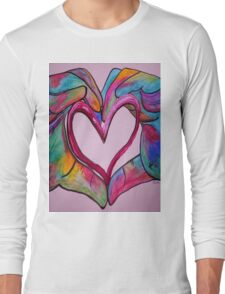 Universal Sign for Love - You Hold my Heart in Your Hand Long Sleeve T-Shirt