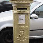 Golden postbox by jmnicolson
