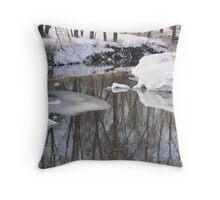 Snowy River scene Throw Pillow