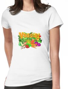 Veggie Salad by Valxart Womens Fitted T-Shirt