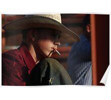 Smoking Cowboy Poster