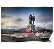 Commando Memorial at Spean Bridge Poster