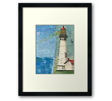 Yaquina Head Lighthouse OR Chart Cathy Peek Framed Print