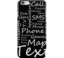 I Phone Typography Collage (black)  iPhone Case/Skin