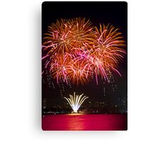 Orange Blossom Bursts | New Years Eve | Sydney Harbour Canvas Print