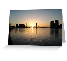 Sunrise on the River-Jax, Fl Greeting Card