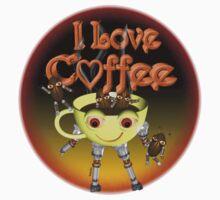 I love Coffee by Valxart One Piece - Short Sleeve