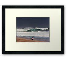 Pipeline Surfer 11 Framed Print