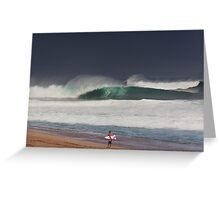 Pipeline Surfer 11 Greeting Card