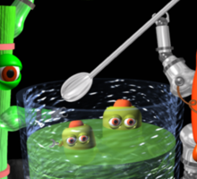 I Love Juice w/ celerybot by Valxart    Sticker