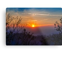 Sunset time over the town Metal Print