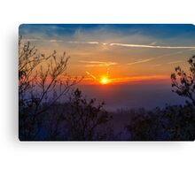 Sunset time over the town Canvas Print
