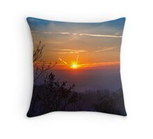 Sunset time over the town Throw Pillow