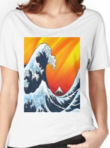 Japanese Wave Women's Relaxed Fit T-Shirt
