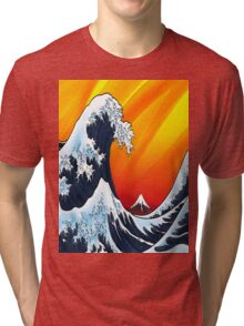 Japanese Wave Tri-blend T-Shirt