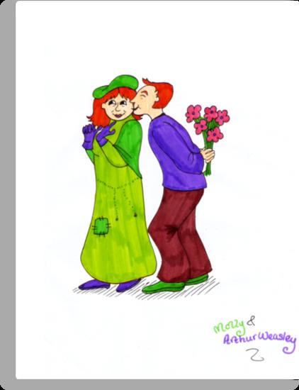Molly and Arthur Weasley by LittleMizMagic