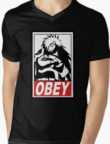 OBEY Madara Uchiha  Mens V-Neck T-Shirt