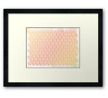 Grunge Pastel Cubes Framed Print
