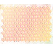 Grunge Pastel Cubes Photographic Print