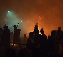 Battle Bonfire 2011 - Tommy in Smoke on the Green by seymourpics